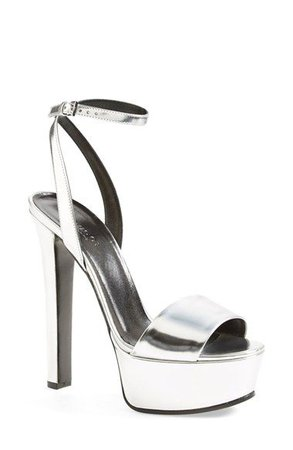 Gucci 'Leila' Metallic Platform Sandal