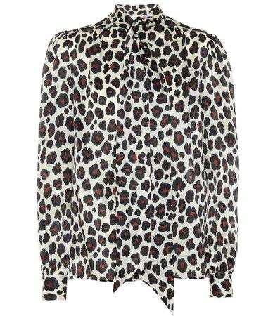 Saint Laurent - Leopard-print silk blouse | Mytheresa