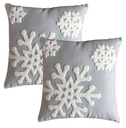 snowflake Christmas pillows