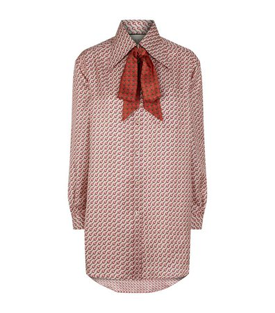 GUCCI Silk Pussybow Blouse