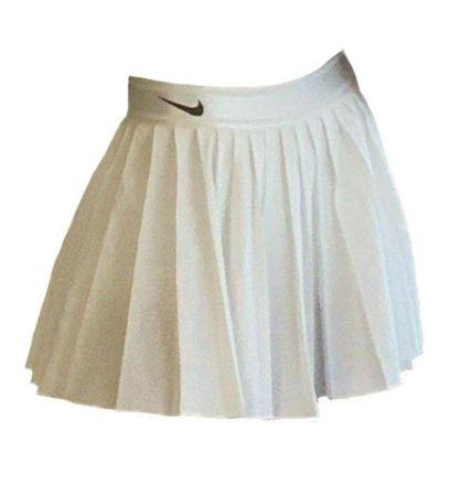 white Nike pleated skirt