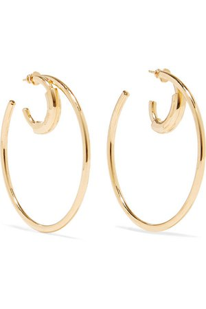 Chloé | Reese gold-tone hoop earrings | NET-A-PORTER.COM