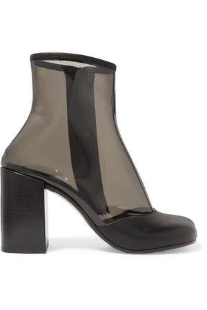 MM6 Maison Margiela | Leather-trimmed PVC ankle boots | NET-A-PORTER.COM