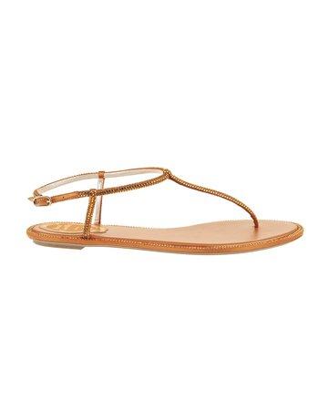 Orange Diana Elegant Thong Sandal