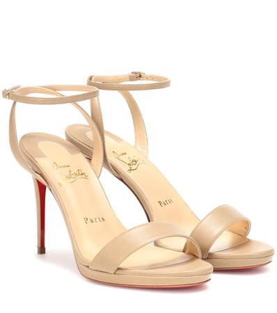 Loubi Queen 100 Кожаные сандалии | Кристиан Лубутен - Митереза
