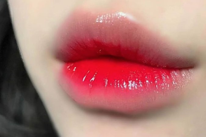 korean red lips