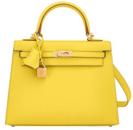 yellow Kelly Hermès bag