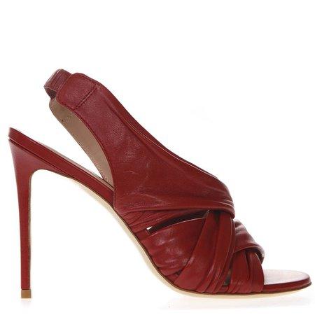 Aldo Castagna Red Nappa Leather Sandals