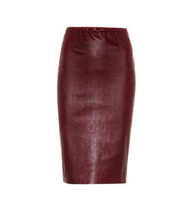 Gilda leather pencil skirt