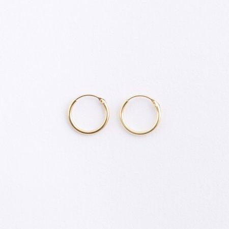 Small Gold Hoop Earrings • HOPSCOTCH •