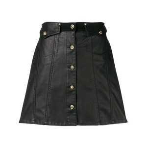 Versace Jeans Button Front Mini Skirt