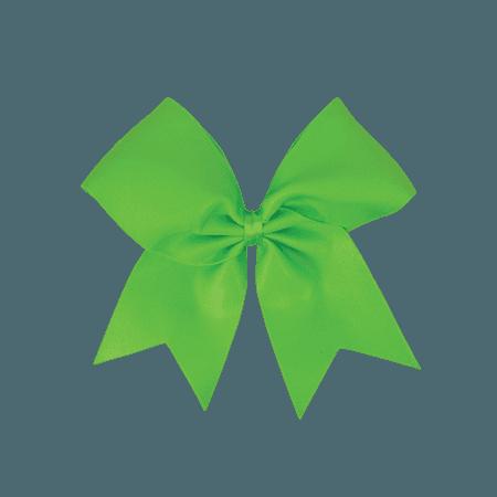 Neon green hair bow
