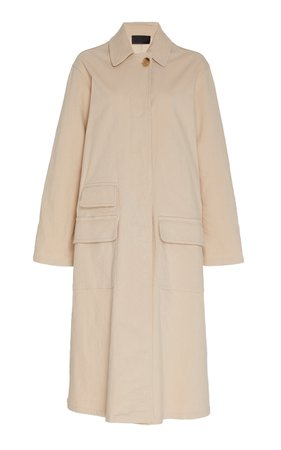 NILI LOTAN Samuel Cotton-Blend Duster Coat Size: L