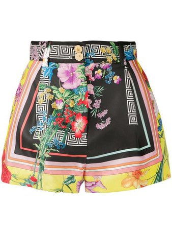 Versace floral Greca print shorts $770 - Buy Online - Mobile Friendly, Fast Delivery, Price