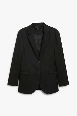 Single-breasted blazer - Black magic - Blazers - Monki