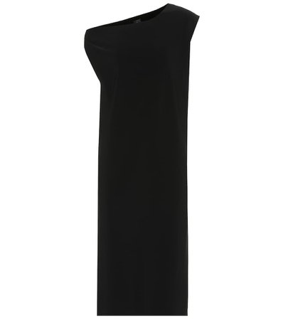 Drop Shoulder Jersey black Dress