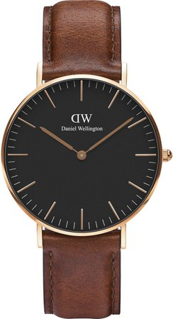 Classic St. Mawes Leather Strap Watch, 36mm