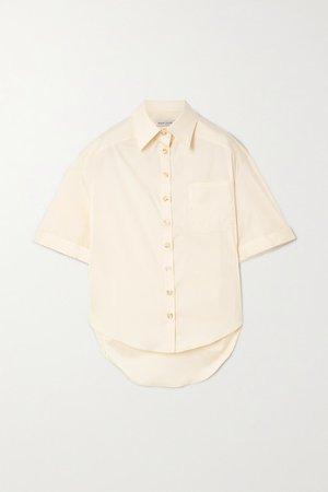 Austin Cotton-blend Poplin Shirt - Ecru
