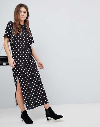 ASOS DESIGN | ASOS Ultimate T-Shirt Maxi Dress In Polka Dot