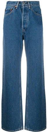 Wide-Leg High Rise Jeans