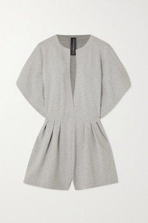 Melange Stretch-cotton Jersey Playsuit - Gray