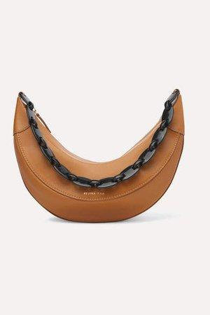 Banana Leather Shoulder Bag - Brown