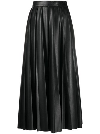 MSGM faux-leather Pleated Skirt - Farfetch