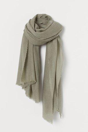 Wool-blend Scarf - Green