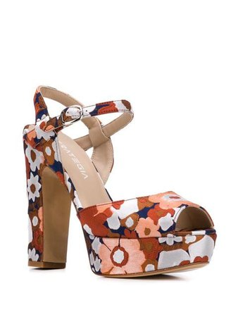 Strategia floral print platform sandals