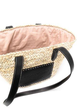 Emporio Armani Woven Tote Bag - Farfetch