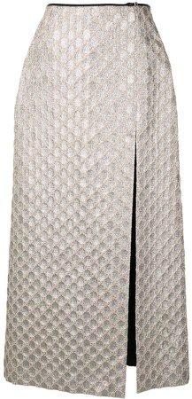 GG front slit skirt
