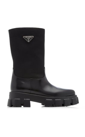 Leather Boots By Prada | Moda Operandi
