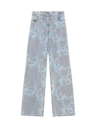 GANNI x Levi's® Jean taille-haute à Fleurs