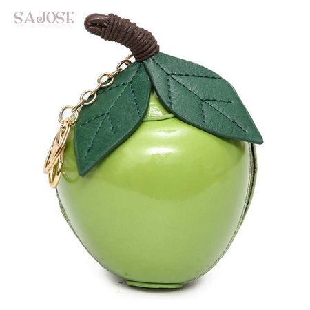 Online Shop Women Fashion Leather Bags Designer Classic Cute Girl Evening Package Green Small Leaf Apple Clutch Bag Drop Shipping | Aliexpress Mobile