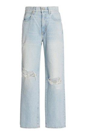 London Ankle Rigid High-Rise Straight-Leg Jeans By Slvrlake   Moda Operandi