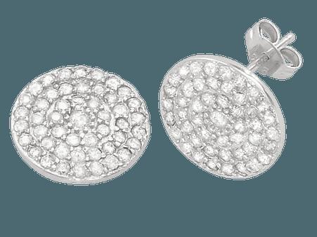 Sterling Silver Disk Stud Earrings