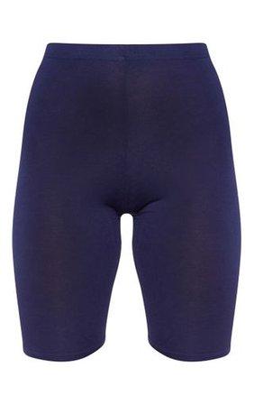 Navy Basic Cycle Shorts | Shorts | PrettyLittleThing