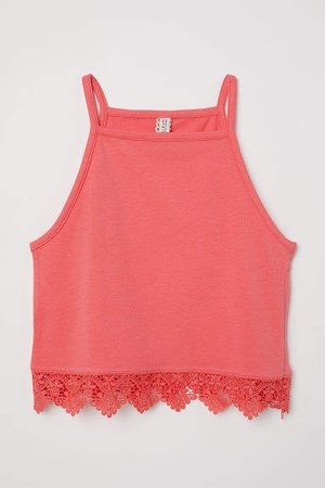 Tank Top with Lace - Pink
