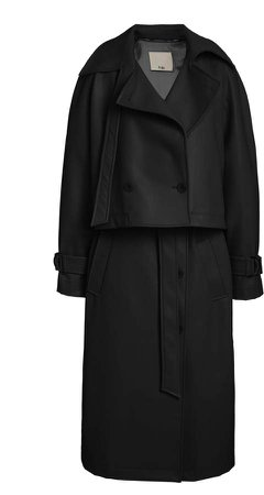Tibi Vegan Leather Convertible Trench Coat