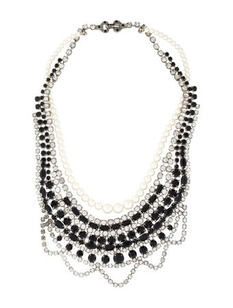 Tom Binns Crystal & Pearl Collar Necklace - Necklaces - W4T20485 | The RealReal