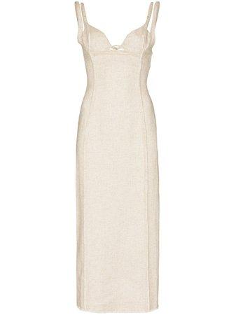 Jacquemus La robe Valerie corset midi dress 203DR06203124140 - Farfetch