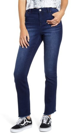 RE:Denim High Waist Raw Hem Jeans