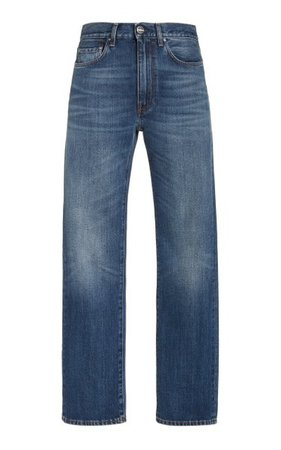 Distressed Regular Straight-Leg Jeans By Toteme | Moda Operandi