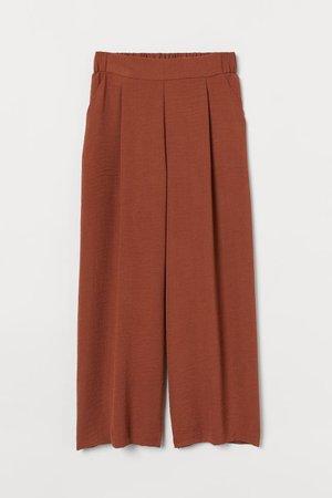 Wide trousers - Brown - Ladies | H&M GB