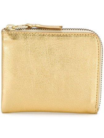 Comme Des Garçons Wallet Metallic Zipped Wallet - Farfetch