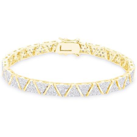 v diamond gold bracelet - Google Search