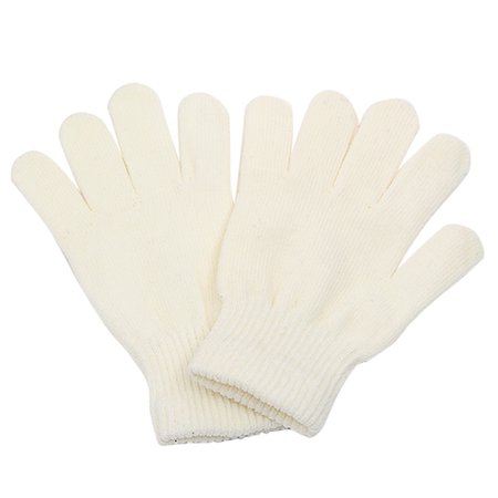 Winter Warm Knit Gloves Full Finger Stretchy Mittens White