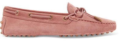 Gommino Suede Loafers - Antique rose