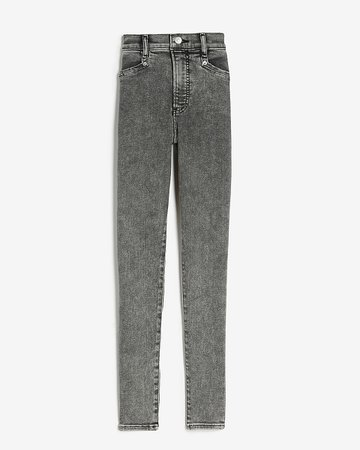 High Waisted Gray Skinny Jeans | Express