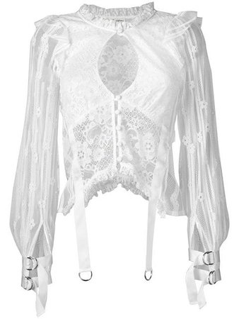 For Love And Lemons Top De Encaje Con Tiras - Farfetch